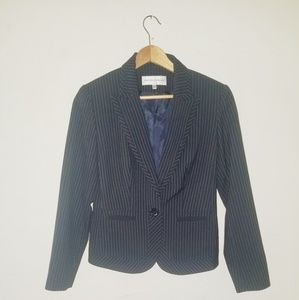Jones New York Suit jacket, navy blue, lined,
